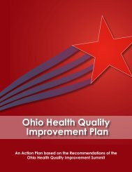 Ohio Health Quality Improvement Plan
