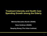 Treatment Intensity and Health Care Spending Growth among the Elderly