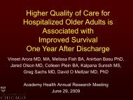 Relationship between quality of care for hospitalized vulnerable ...