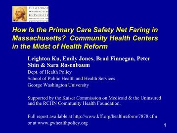 in the Midst of Health Reform