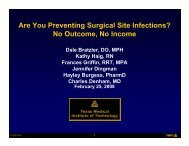 Are You Preventing Surgical Site Infections? No Outcome No Income