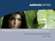 Introduction to the Aarhus United Group