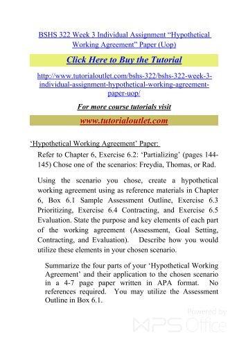 Bshs 322 week 3 individual assignment hypothetical working bshs 322 week 3 individual assignmentpdf tutorialoutlet platinumwayz