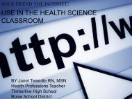 Internet in the Health Occupations Classroom