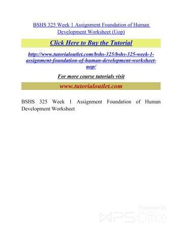 foundations of human development worksheet