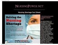 Nursing Shortage Fact Sheet