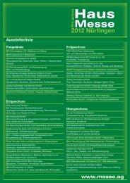 2012 Nürtingen www.messe.ag - Die grüne Haus Messe 2012 ...