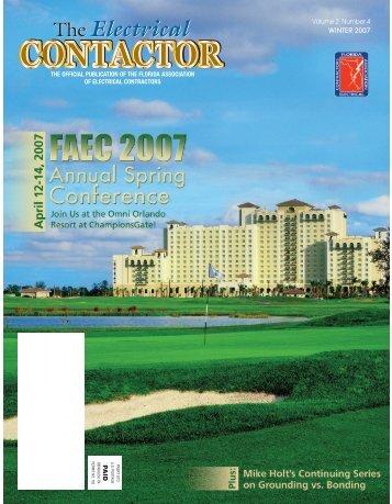 "FAEC ""Contactor"" Magazine - Winter 2007 - Florida Association of ..."