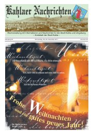 Kahlaer Nachrichten - Ausgabe Nr. 25 - 22. Dezember 2011