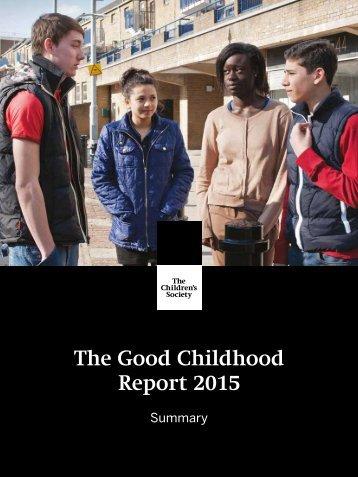 The Good Childhood Report 2015