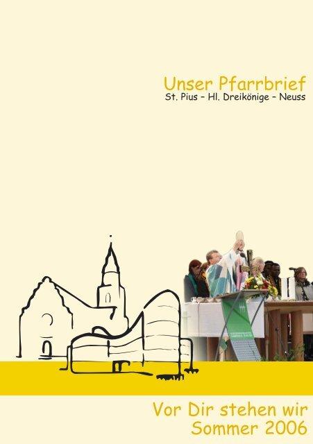 Pfarrbrief Sommer 2006 - Kath. Pfarrgemeinde Hl. Dreikönige, Neuss