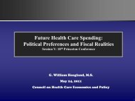 Political Preferences and Fiscal Realities - Council on Health Care ...