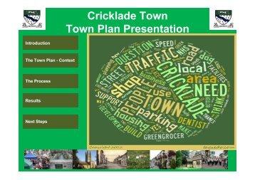 Cricklade Town Town Plan Presentation