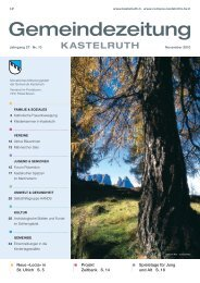 Gemeindezeitung Kastelruth - Ausgabe November 2010 (5,91 MB