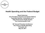 Health Spending and the Federal Budget