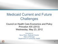 Medicaid Current and Future Challenges