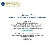 Session IV Health Care Delivery System Reform