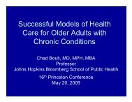 Care for Older Adults with Chronic Conditions