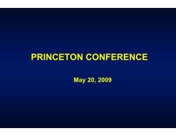 PRINCETON CONFERENCE