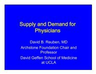 Supply and Demand for Physicians