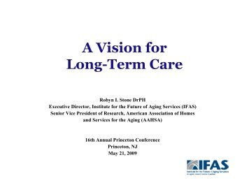 A Vision for Long-Term Care