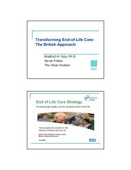 Transforming End-of-Life Care The British Approach End of Life Care Strategy