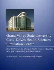 Grand Valley State University Cook-DeVos Health Sciences Simulation Center