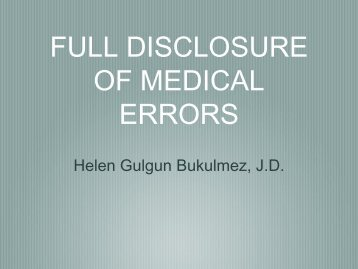 OF MEDICAL ERRORS