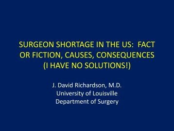 surgeon shortage in the us - Health Watch USA