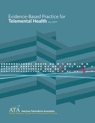 Evidence-Based Practice for Telemental Health
