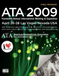 ATA 2009 Annual Meeting Program - American Telemedicine ...