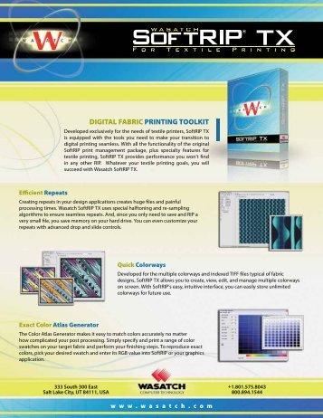 DIGITAL FABRIC PRINTING TOOLKIT
