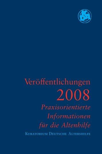 Praxisorientierte Informationen für die Altenhilfe - Kuratorium ...