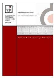 Das Unternehmen stellt sich vor -deutsch- - kgk Elektroanlagen GmbH