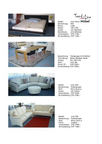Aktionen - Trend-Line Möbel