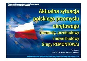 Aktualna sytuacja polskiego przemysłu okrętowego