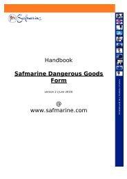Handbook Safmarine Dangerous Goods Form @ www.safmarine.com