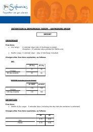 DETENTION & DEMURRAGE TARIFF - SAFMARINE SPAIN IMPORT DEMURRAGE DETENTION