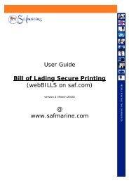 Bill of Lading Secure Printing - Safmarine