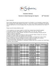 Customer Advisory Revision in Inland Haulage for ... - Safmarine