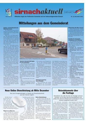Das nächste erscheint am 23. Dezember - Gemeinde Sirnach