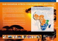 SUB-SAHARAN AFRICA CONTAINERISED SERVICES