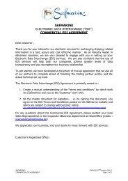COMMERCIAL EDI AGREEMENT (SAFM - 27JAN2011) - Safmarine