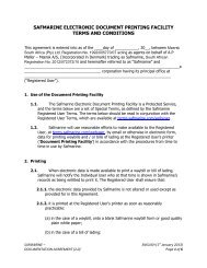 SAFMARINE ELECTRONIC DOCUMENT PRINTING FACILITY TERMS AND CONDITIONS