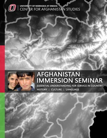 Afghanistan Immersion Seminar