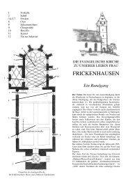 Faltblatt - Evangelische Kirchengemeinde Frickenhausen