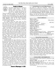 Pastor's Column Pastor's Column Dear fellow parishioners, this ...