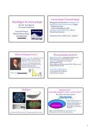 Grundlagen der Immunologie