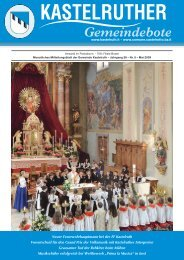 Kastelruther Gemeindebote - Ausgabe Mai 2009 (4,96 MB