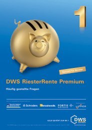 DWS Riester Rente Premium FAQ